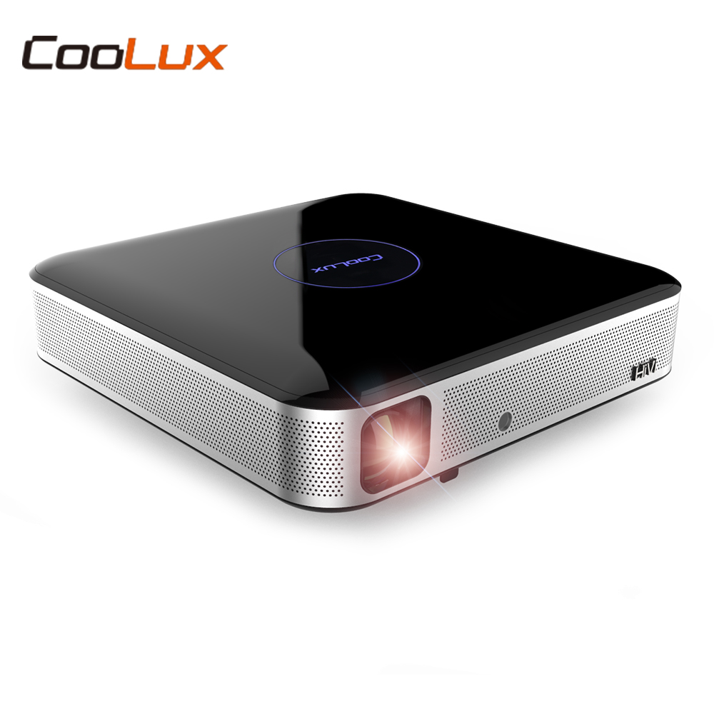 Original COOLUX S3 DLP Portable Android 4.4 Projector 1280 x 800P Support 4K HD 2.4 / 5GHz WIFI Bluetooth 4.0 3D Home Theater aun projector 3200 lumen t90 1280 768 optional android projector with 2 4g air mouse bluetooth wifi support kodi ac3 led tv
