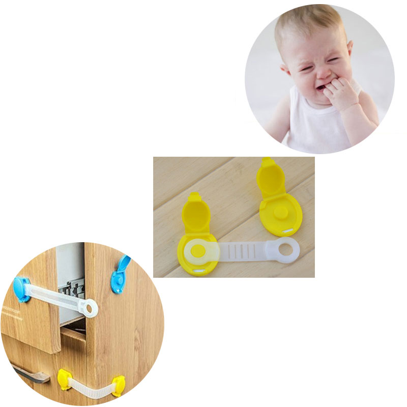 5Pcs/Lot Baby Safety Lock Protection For Children Child Lock Castle Child Safety Security Central Locking  Doors Cabinet Drawers