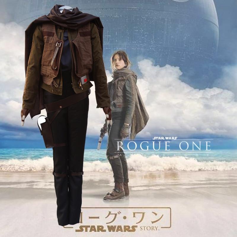 Ainiel Custom made Star Wars Rogue One Jyn Erso Cosplay Costume High quality Women Battle Suits Halloween Uniform Full Set