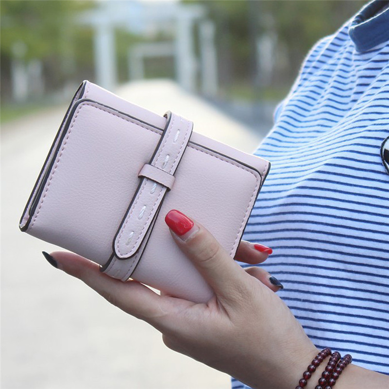 Women Wallet Portable Mini Grind Bifold Leather High Quality Fashion Brand Wallet Female Hasp Dollar Price