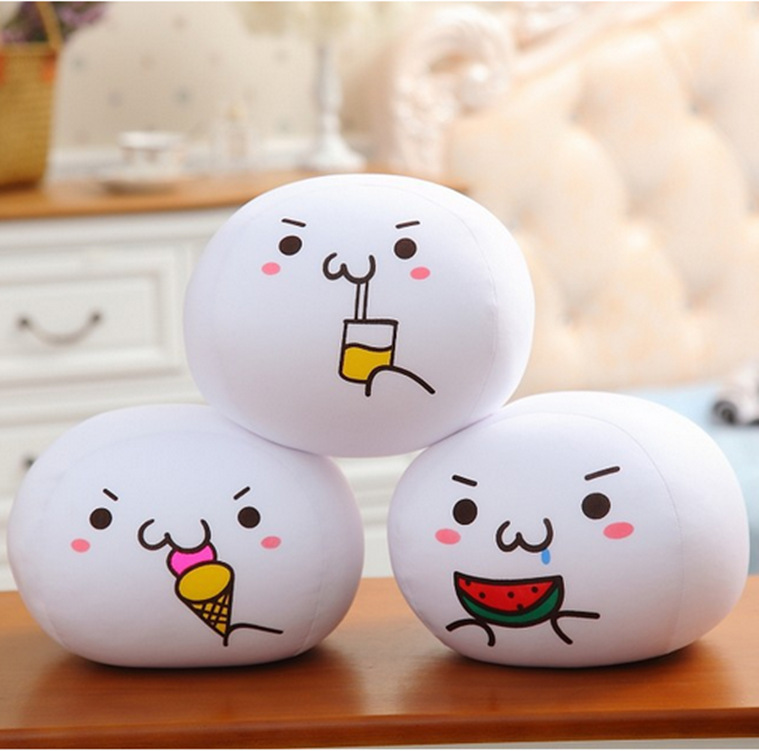 20CM Creative Kaomoji Bubble Dumpling Anime Face Pillow Plush Stuffed Doll Emoticon Expression Foam Toys Children Kids Gifts ...