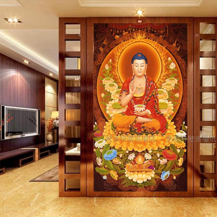 Custom Size Photo 3D Sakyamuni Buddha Mural Buddhist Faith Living Room  Bedroom Study Wallpaper Mural In Wallpapers From Home Improvement On  Aliexpress.com ...