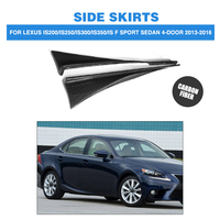 2PCS/Set Carbon Fiber Car Side Skirts Trims for Lexus IS200 IS250 IS300 IS350 IS F Sport Sedan 4 Door 2013 2016 Car Styling