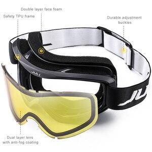 Image 2 - סקי משקפי, חורף שלג ספורט עם נגד ערפל כפול עדשת סקי מסכת משקפיים סקי גברים נשים שלג משקפי