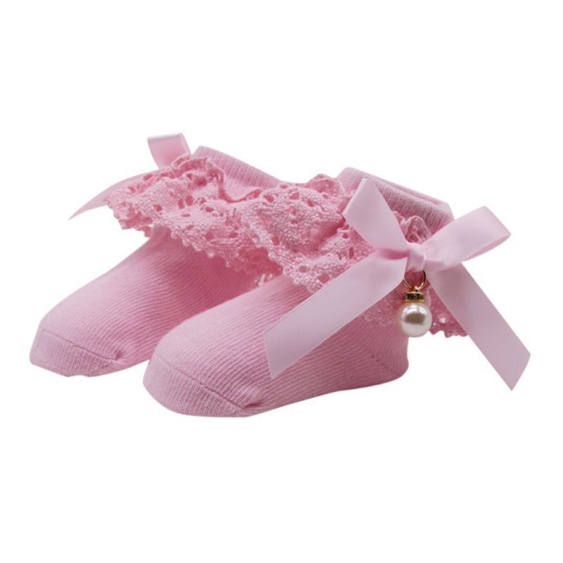 Hot Sale Spring Summer Baby Girl Socks Newborn Lace Princess Socks Cotton Children Dress Socks