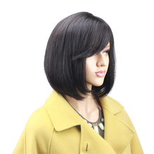 hot deal buy eseewigs short bob 360 lace frontal wigs with bangs baby hair around pre plucked brazilian remy human hair lace wigs for women