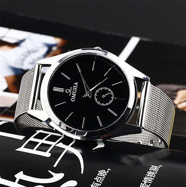 New Style Quartz Watch Business Fashion Vico Men's Women's Stainless Steel Band