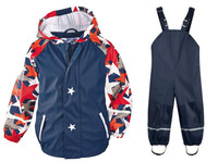 Kids Raincoat Boys Rainwear Waterproof Jackets Trousers Windproof Girls Rain Suit Children Outdoor Ski Suit Pants