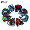 SOACH 10pcs/Lot 1.0mm thickness guitar parts  Guitar Accessories new personality skeleton skull devil head design guitar picks