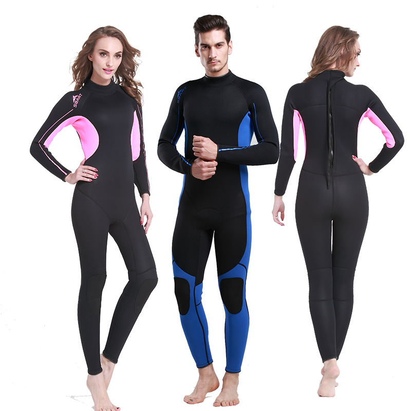 SBART 2016 Free Diving Neoprene Wetsuit For Swimming 3MM Triathlon Scuba Diving Surfing Wetsuits Spearfishing Wetsuits N1013 sbart 3mm neoprene wetsuit men top long sleeve neoprene surf rash guard jacket for diving surfing swimming clothe keep warm n734