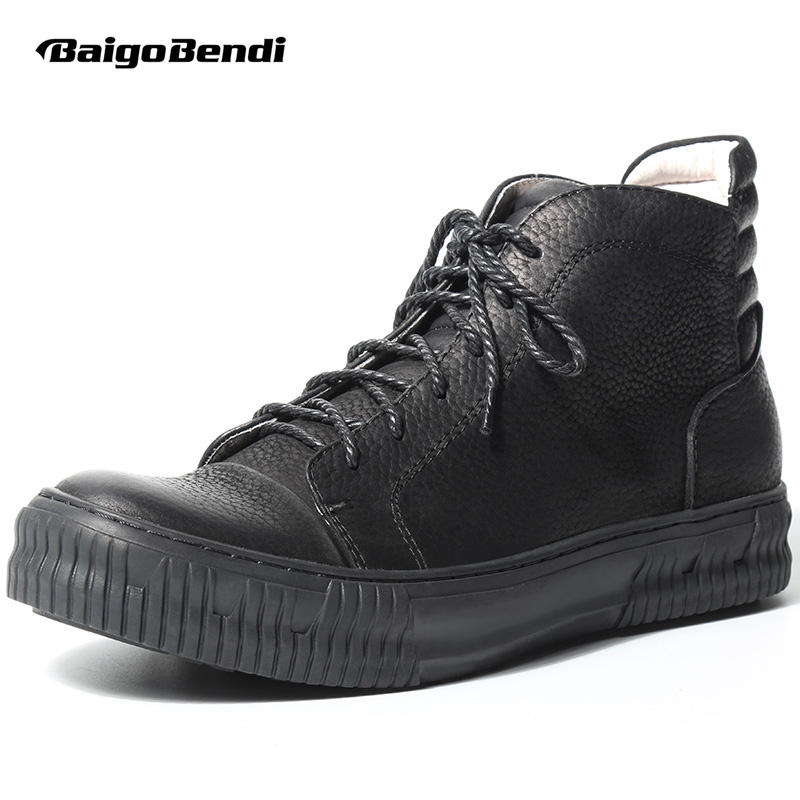 Men Winter Boots Genuine Leather Lace Up Martin Boots British Riding Boots Man Oxfords Casual Black Shoes z suo fashion winter men shoes genuine leather boots breathable comfortable british style men s casual martin shoes