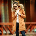 New Style Tops Autumn Winter Wadded Woman Jacket Parkas Plus Size S-2XL Slim Cotton-padded Raccoon Fur Female Outerwear Coat