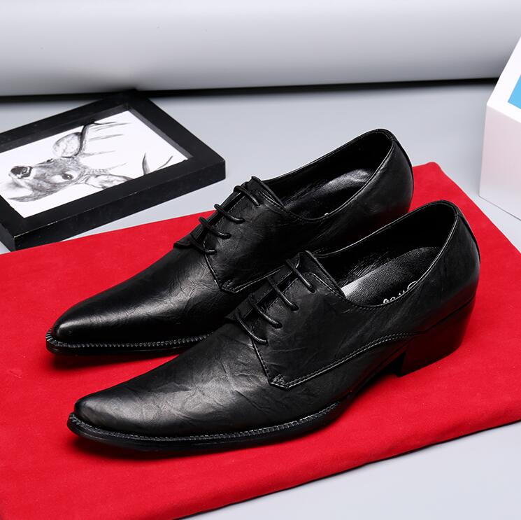 38-47 High Quality Leather Dress Shoes Pointed toe new Style Business Wedding Formal Flats Black  handmade Shoes For Men38-47 High Quality Leather Dress Shoes Pointed toe new Style Business Wedding Formal Flats Black  handmade Shoes For Men
