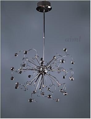 Modern Crystal chandelier with 15 Lights G4 K9 Crystal In full bloom fruit 110-220V Chrome lihgt lamp Strange bend pendant