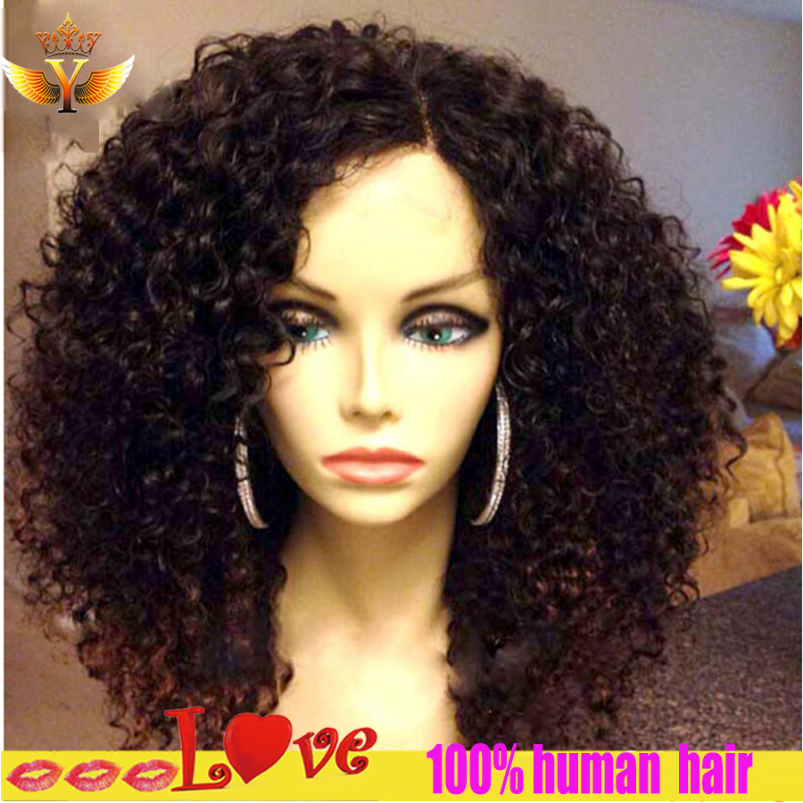 Malaysian Kinky Curly Full Lace Wig Short Human Hair Curly