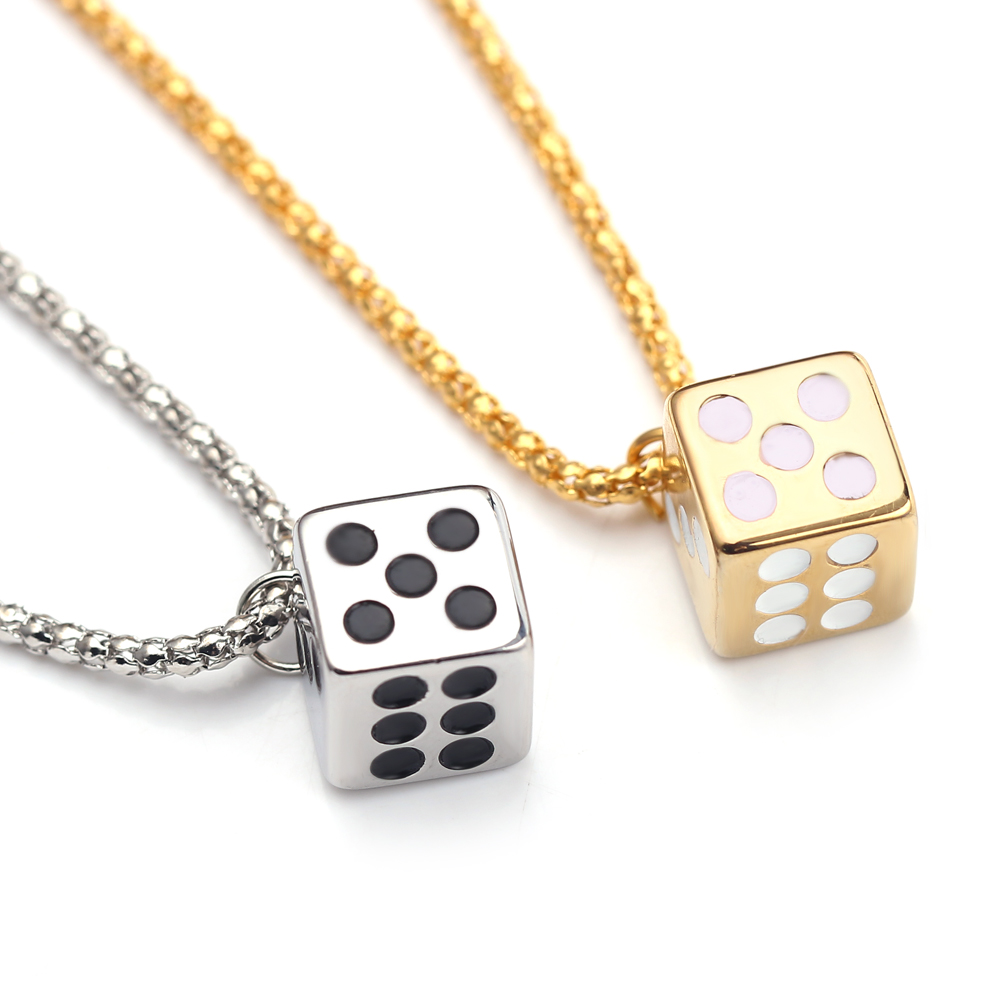 Methodical The Last Jedi Han Solo Lucky Dice Necklace Pendant Gold Color Dice/cube Choker Charms For Men Women Hip Hop Gift Jewelry Agreeable To Taste Chain Necklaces Jewelry & Accessories