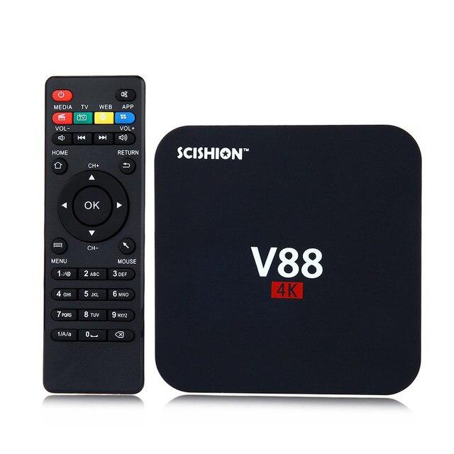 V88 Smart Android TV Box RK 3229 Quad-Core 1G+8G Android 5.1 OTT 4K 3D Mini Media Player KD Mini PC Smart TV Box