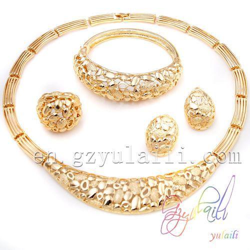 2014 New design jewelry sets 22k gold jewellery dubai bride custom