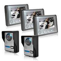 Outdoor Camera Angle Is Adjustable 7 Inch Night Vision Digital Color Video Door Phone Intercom Doorbell