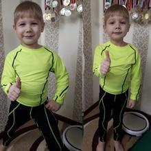 Children's Sportswear Suit Boy Winter Training Thermal Underwear Set Children Rash Guard Kit Compres