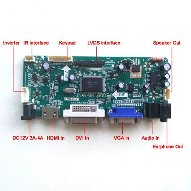 "Dla N121X5-L01/L02/L03 LCD monitora HDMI DVI VGA CCFL LVDS 20-Pin M. NT68676 kontroler wyświetlacza karta do dysku 1024*768*12.1 ""zestaw do samodzielnego montażu"