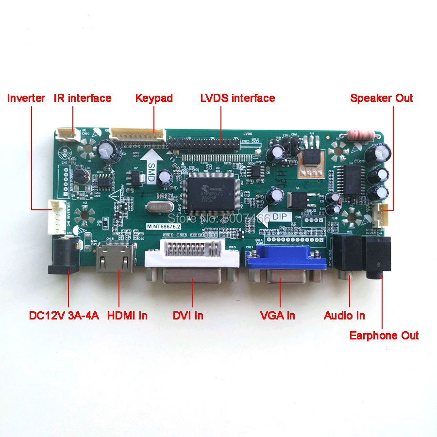 Image 2 - For LM220WE1 TLD1/TLD2 LCD monitor panel CCFL LVDS 30Pin 22  1680*1050 M.NT68676 screen controller drive board HDMI DVI VGA  KitLaptop Repair Components