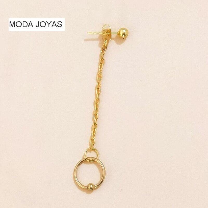 1pcs 2018 new Fashion gold circular Earrings Tassel Chain bts Earrings For Women and men Long Earrings