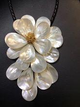 Ljhmy хрустальные бусины белый морской ракушки цветочное ожерелье