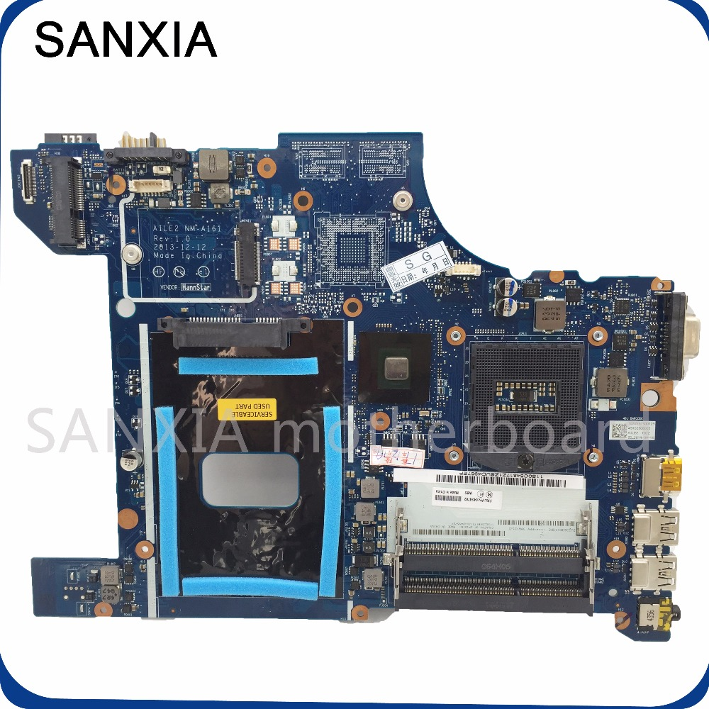 SHELI E540 laptop motherboard for Lenovo AILE2 NM-A161 motherboard original mainboard GM tested notebook NM-A161 motherboard laptop motherboard fit for acer aspire 3820 3820t notebook pc mainboard hm55 48 4hl01 031 48 4hl01 03m