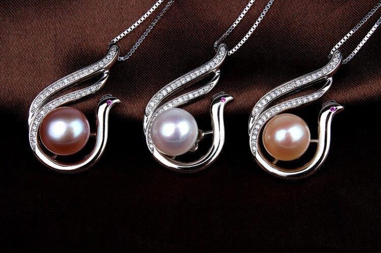YSP20 femmes beaux bijoux, délicate phoenix pendentif avec une perle, 925 collier en argent sterling pour le cadeau d'anniversaire