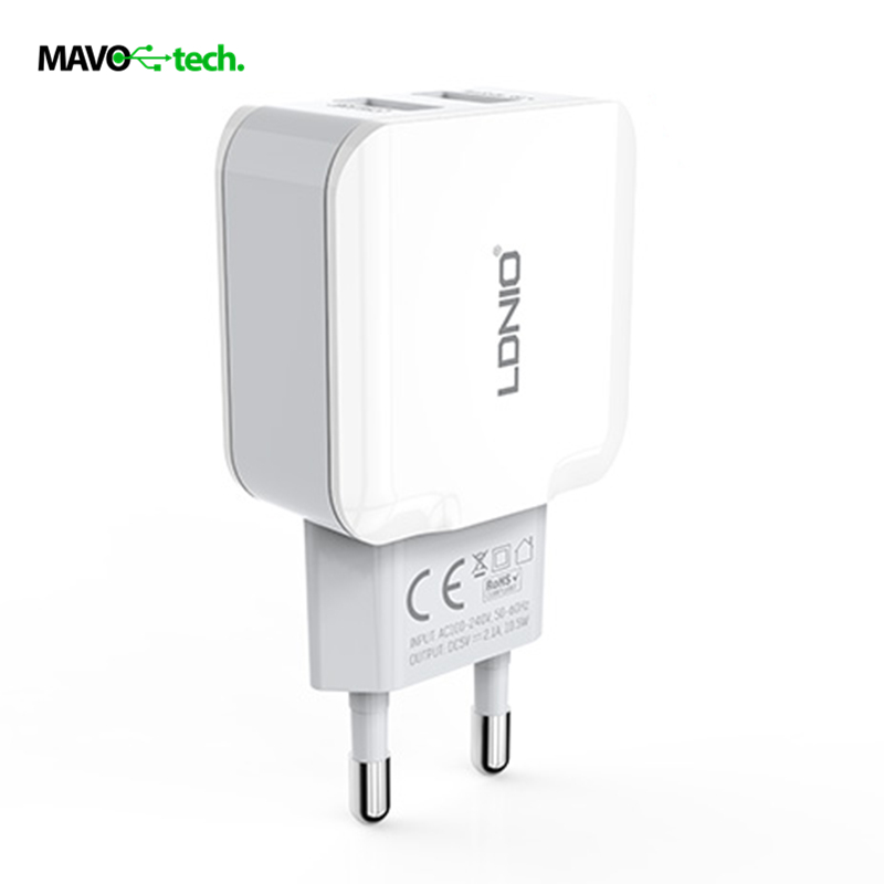 LDNIO Fast Charging Wall Charger 2.4A Dual USB Ports EU Plug Cellphone...