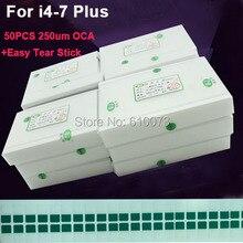 50 ชิ้น/ล็อต 250um OCAกาวใสสำหรับiPhone X 8 7 plus 6s 6 plus 5 5S 5C SE 4 4S OCAกาวTOUCH Glassฟิล์มเลนส์