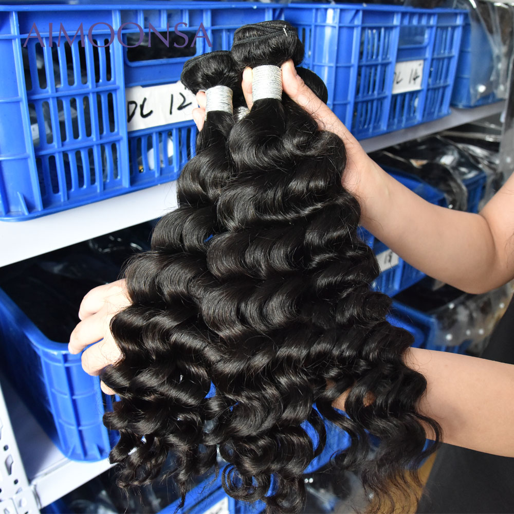 Brazilian Hair Weave Bundles Loose Wave Bundles Human Hair Extensions 3 Pieces Remy Hair Aimoonsa Hair Products