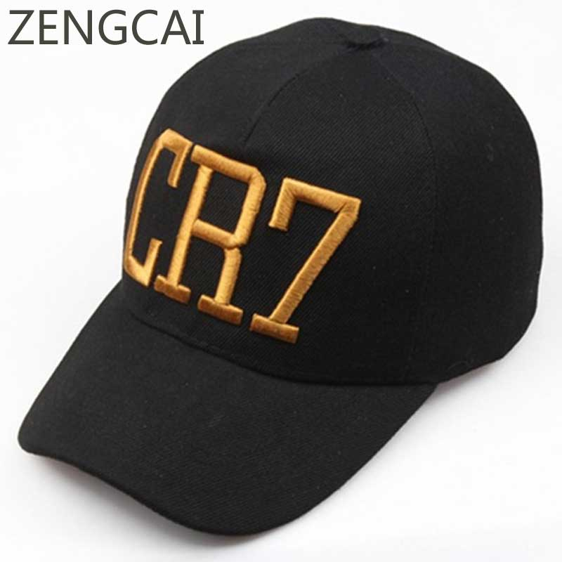 Cristianp Ronaldo CR7 Dad Hat Black Baseball Cap Women Men Summer Hip Hop Snapback Flat Caps Embroidery Sun Trucker Hats Fashion letter embroidery dad hats hip hop baseball caps snapback trucker cap casual summer women men black hat adjustable korean style