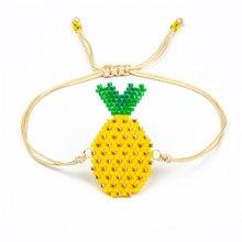 Shinus 10Pcs/lot MIYUKI Bracelets Pineapple Big Eye Bohemia Handmade Charm Rope Chain Girls Jewelry Gifts