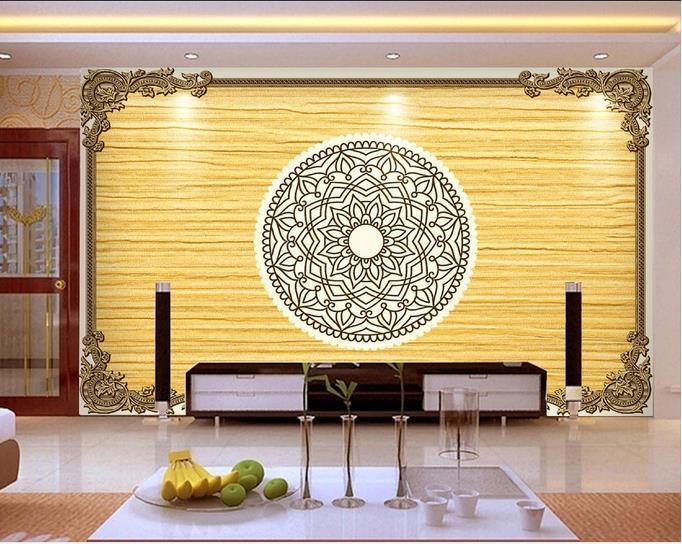 High Quality Custom 3d ceiling wallpaper murals European ceiling ...