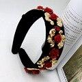 Broadside headband da flor tiara Barroco retro headband grampo de cabelo nupcial tiara headband 721