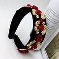 Venda de la flor tiara andanada Barroco retro diadema nupcial tiara clip diadema de pelo 721