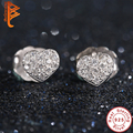 Promotion 925 Sterling Silver Love Heart Stud Earrings for Women Clear Cubic Zirconia Brincos Compatible with Authentic Jewelry