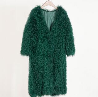 5 Naturel 95 Avec Mouton 3 4 Tricoté En Manteau 2 Cm Fourrure Supplémentaires Plus De 4 Mongole Veste Femme Taille Hiver Chaud Poche wwqOrAH
