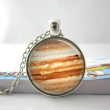 Fashion Necklaces For Women 2014 Vintage Planet Necklace Planet Jupiter Science Photo Glass Dome Pendant Jupiter Necklace