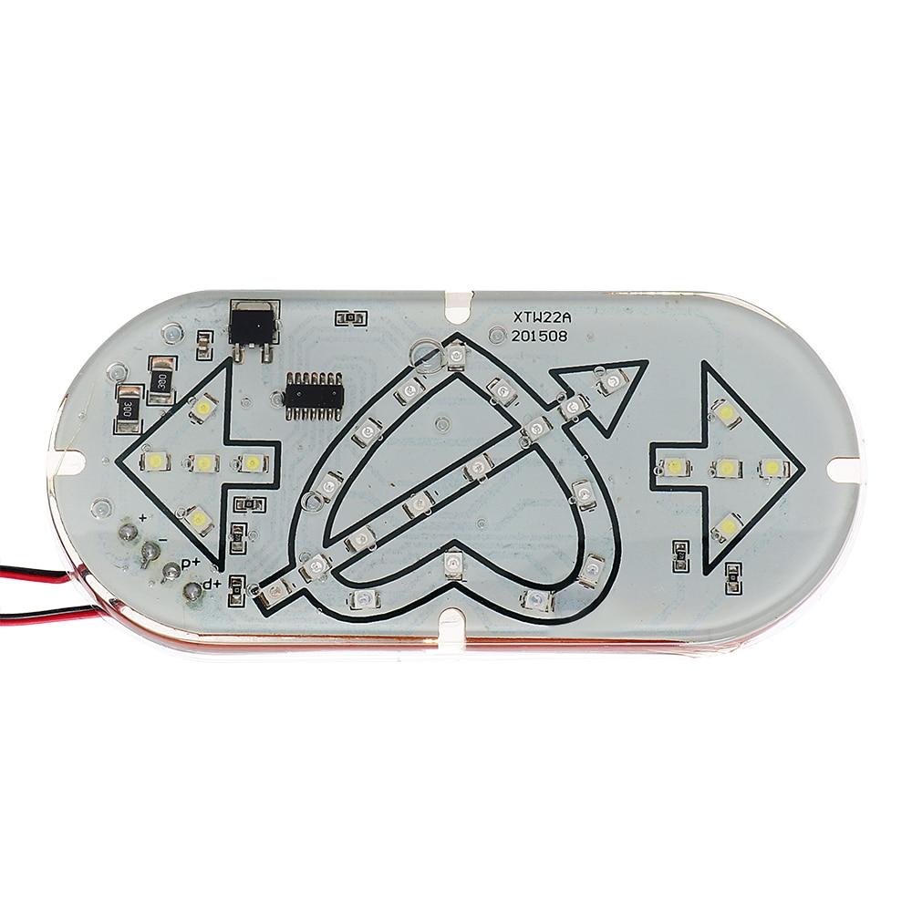 iTimo LED Heart Strobe Lamp Brake Stop Light Motorcycle Lighting Indicator Lamp Motorcycle Flasher Turn Signal Lights Universal