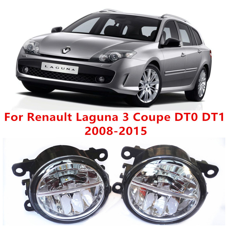 ФОТО For Renault Laguna 3 Coupe DT0 DT1 2008-2015 10W Fog Light LED DRL Daytime Running Lights Car Styling lamps