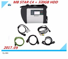 Top Quality For MB Star C4 SD Connect Star Diagnosis+ Xentry DAS 2017.09 Compact 4 Multiplexer For Mercedes Benz Diagnostic Tool