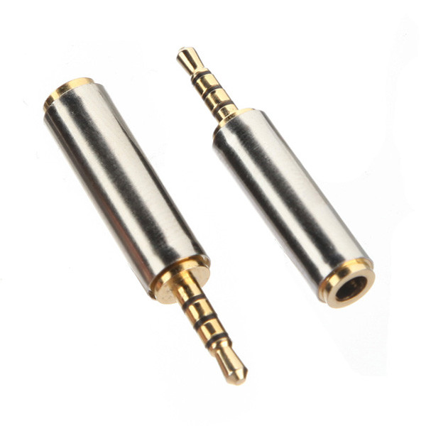 Gold 2 5mm Male to 3 5mm Female Stereo Uldum Full Metal Earphones font b Audio