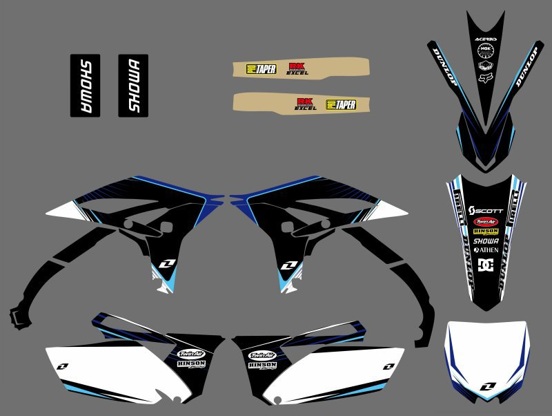 Power 0200 New Style TEAM GRAPHICS DECALS FOR Yamaha YZ250F YZF250 2010 2011 2012 2013