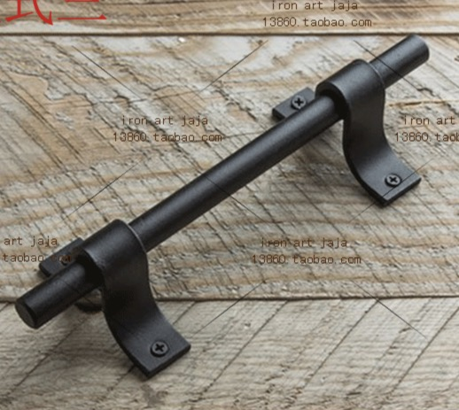 2pcs/lot  L:200MM   American Style Retro Industrial Pipe Black Moving Cabinet Door Handle