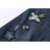 2017 Más Nuevas Mujeres Elegantes Jean Pantalones de Mezclilla Azul del Pájaro Floral Bordado Apliques Ripped Bolsillos Lápiz Jeans QQLP318