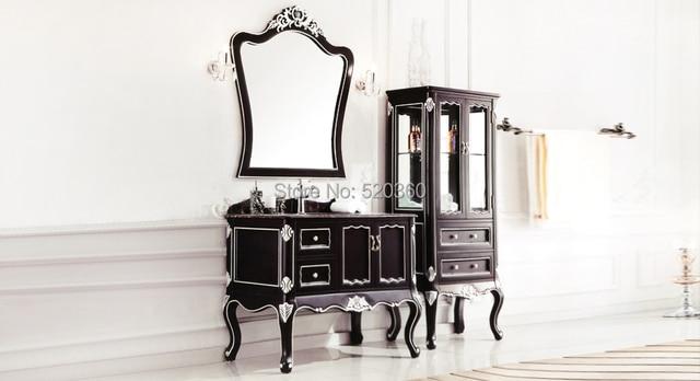 Spiegel Voor Badkamer : Zwart leaf verf zilveren eiken portoro marmer kast en spiegel