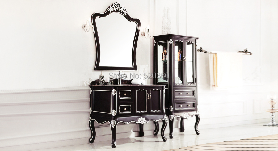 Black and leaf paint silver oak portoro marble cabinet for Black and silver cabinet